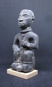 Antique BAKONGO NTADI Funeral (G) Figure of a Chief - Belgian CONGO - late 1800