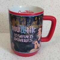 Disney Snow White Mug Cup Wrap Around Red Large 16 oz Evil Queen Seven Dwarves