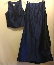 Bill Levkoff Women's Holiday Prom 2Piece Formal Dress Navy Size 6 Sleeveless