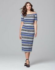 LOVEDROBE Bardot Stripe dress uk size  22  bnip