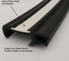 CARAVAN WINDOW RUBBER, PLASTIC INFILL/INSERT TRIM STRIP, 25M ROLL, WHITE, 23mm