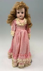 "Lovely 16"" Antique German Bisque Doll, Marked W&C, Mold 950"