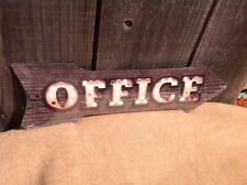 """Office This Way To Arrow Sign Directional Novelty Metal 17"""" x 5"""""""