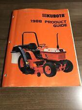 Vintage Original 1989 Kubota Tractor Mower Equipment Full Line Buyers Guide