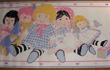 Nursery childerens Wallpaper Border Girls Dolls & Blocks