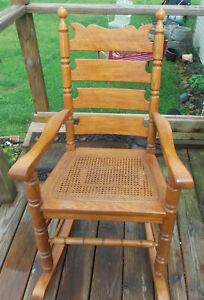 Oak Caned Seat Rocker / Rocking Chair  (RP-R74)