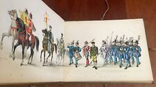 Leiden 1875 Color Plate Panorama Maskerade Festival Book, Military, 300th
