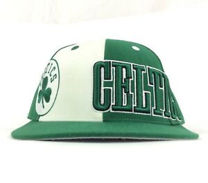 NBA Boston Celtics Adidas Green Shamrock Logo Baseball Cap Hat Fitted Size 7 1/2