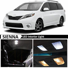 For Toyota Sienna 2015-2017 White Interior License Plate LED Lights Package 21x