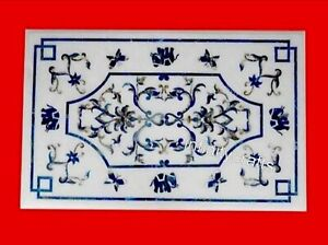 24 x 48 Inches Marble Coffee Table Top Mosaic Art Sofa table from Cottage Crafts