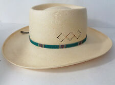 Larry Mahan's Milano Gambler Hat Size S 6-7/8 4X Handwoven Shantung USA