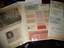 #423 vtg 1988 ephemera Mix LOT From Japan Ticket Stubs Credit Card ETC