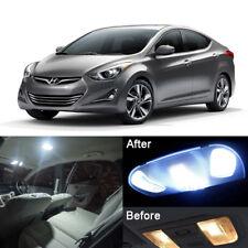 New Xenon White LED Interior Light Kit For Hyundai Elantra 2016-2017 AD (8pcs)