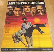 Affiche de cinéma : LES TETES BRULEES de WILLY ROZIER