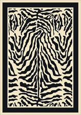 "5x8 Milliken Zulu Zebra Modern Bordered Area Rug - Approx 5'4""x7'8"""