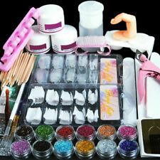 1 Set Full Acrylic Powder Nail Art Tool Set Nail Tips Brush Manicure Tool Kit