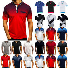 Mens Polo Shirts Muscle T-Shirt Short Sleeve Golf Sports Summer Tops Blouse Tee