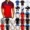 Mens Polo Short Sleeve Shirts Dri-Fit Muscle T Shirt Golf Casual Summer Tee Tops