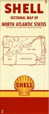 1954 Shell Road Map: North Atlantic States NOS