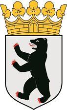 Aufkleber Berlin Wappen Autoaufkleber Sticker Konturschnitt