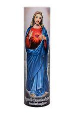 Sacred Heart of Jesus Devotional Religious Saint LED Flameless Prayer Candle