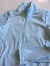 Nike Tour performance therma-fit Women's S Small light blue 1/2 zip sweater