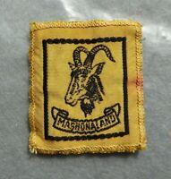 Vintage cloth Scouts badge, Mashonaland, 2.25 x 2 inches.
