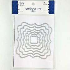 Love Nicole Nesting Square Labels Embossing Cutting Die Set Paper Craft