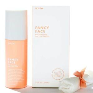 Go-To Skincare Fancy Face Nourishing Oil Cleanser w/ Cloth 3.4oz Full Size NIB