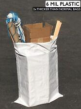 "(5) Contractor Bags - 6 Mil - 31"" x 45"" - Garbage Dumpster Bag Trash Sandbags"