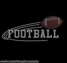 Football Rhinestone Iron on T Shirt Design    FL1J