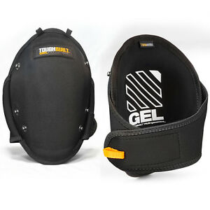 ToughBuilt Tool Knee Pads Gel Protection Work Safety Gear Black Professional