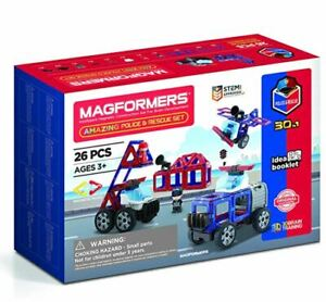 Magformers Amazing Police And Rescue Set Magnetic Construction Toys Christmas