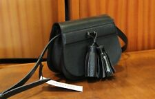 CARACTERE Women's 100% Leather Black Small Shoulder Bag Free Shipping New w Tags