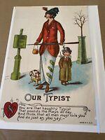 """Vintage Vinegar Valentine """"Our Typist"""""""