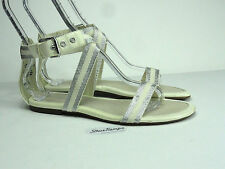 Sperry Top-Sider Womens Gladiator Ankle Strap White Patent Sandal Size 8.5