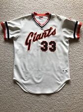 1982 SF Giants Jim Barr Game Used Home Jersey Size 44 USED