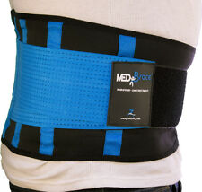 "Medibrace Best Lower Back Support Brace Lumbar Waist Belt Sciatica Pain Relief L (32"" to 38"") 81 - 96cm Persian Blue"