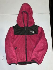 The North Face Navy Soft Osito Denali Jacket Toddler XXS 5 Pink Hooded