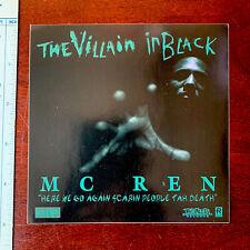 Original Vintage MC Ren NWA The Villain In Black Album PROMO STICKER Hip Hop lp