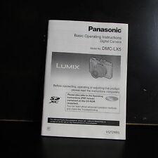 Panasonic DMC-LX5 camera isntrucciones basicas de funcionamiento SP Espanol