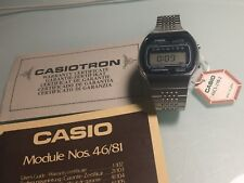 NEW OLD STOCK LCD CASIO CASIOTRON 46CS-29B-2 MEN'S ALALRM CHRONOGRAPH WRISTWATCH