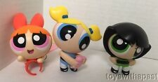 (3) POWERPUFF GIRLS Figures McDonalds Face-Changing Ring Light-Up Lot