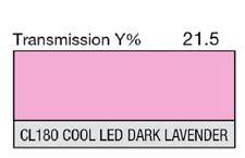"Lee Filters CL 180 Cool LED Dark Lavender Lighting Gel Sheet 21"" by 24"""