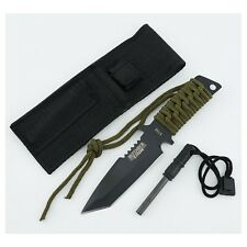 Knife fire starter flint sheath blade survival tactical emergency defender