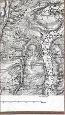 55 Vaucouleurs Montigny Ourches 1889 pt. carte orig. /partie Ugny Rigny Sepvigny