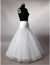 New white wedding dress bridal 1 Hoop A-Line petticoat Crinoline