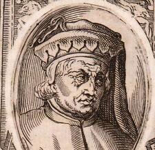 Portrait XVIIIe Jacopo del Casentino Peinture Architecture Jacopo di Landino