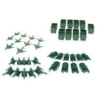 40Pcs Plastic Army Men Playset Accessories Artillery & Jet & Tank & Cars