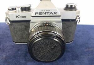 Asahi Pentax K1000 35mm SLR Spiegelreflex Kamera +1:3,5/35 Objektiv Fokus Manu.
